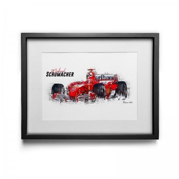 Kunstdruck gerahmt - Michael Schumacher - Scuderia Ferrari - 2005