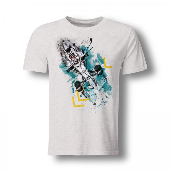 T-Shirt Formel 1 - Lewis Hamilton - top view - 2019