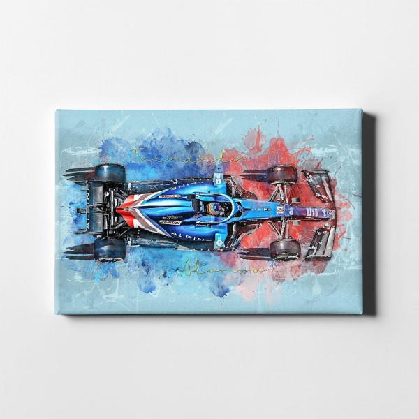 Leinwanddruck Motiv: Formel1 Fernando Alonso - Alpine F 1 Team - 2021