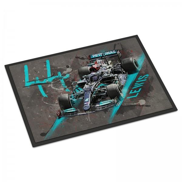 Fussmatte - Artwork Motiv: Formel1 Lewis Hamilton - Mercedes AMG Petronas Motorsport - 2021
