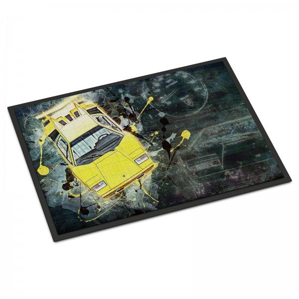 Fussmatte Artwork Motiv: Lamborghini Countach 1988