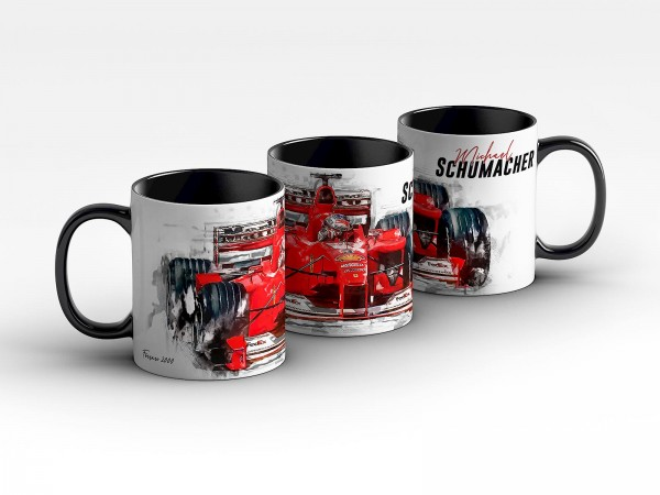 Tasse Motiv: Formel1 Michael Schumacher - Scuderia Ferrari - 2000 Front Kaffeebecher