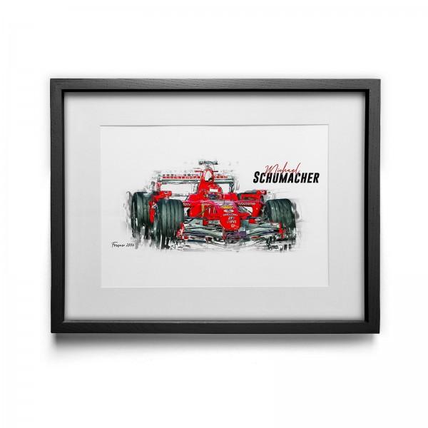 Kunstdruck gerahmt - Michael Schumacher - Scuderia Ferrari - 2006