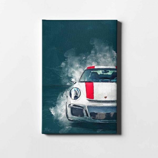 Artwork Leinwanddruck Motiv: Porsche 911 R