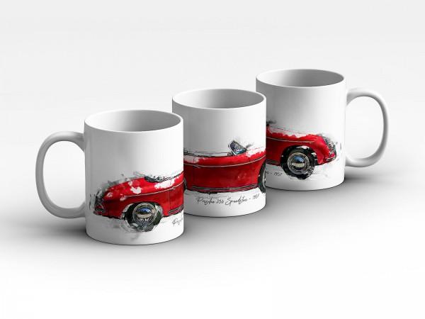 Tasse Motiv: Porsche 356 Speedster - 1957 Kaffeebecher
