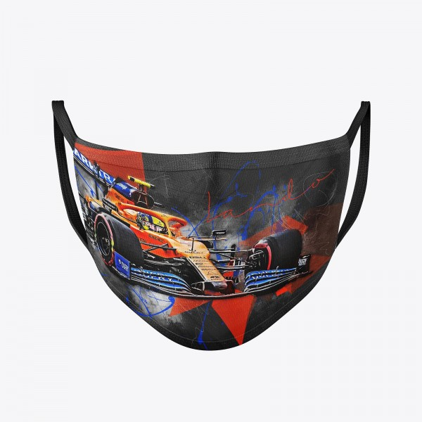 Community Maske | Lando Norris 2020 | washable | Temporary mask reusable | Formula 1