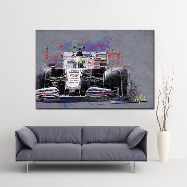 Artwork Leinwanddruck Mick Schumacher - Haas F1 Team - 2021