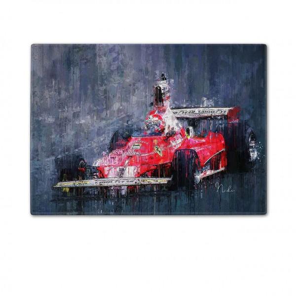 Schneidebrett Artwork Motiv: Formel1 - Niki Lauda - Ferrari - 1975