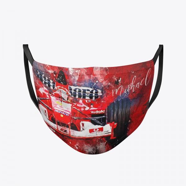 Community Maske | Michael Schumacher | Behelfsmaske | waschbar | wiederverwendbar | Formel1 Mundschutz | Mund- Nasenschutz | Mund-Nasen-Maske