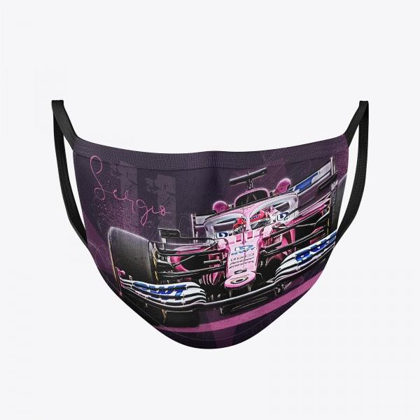 Community Maske   Sergio Perez 2020   waschbar   Behelfsmaske wiederverwendbar   Formel1 Mundschutz