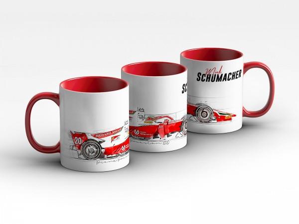 Formel 2 Tasse - Mick Schumacher - Prema Powerteam - 2020 Silhouette Kaffeebecher