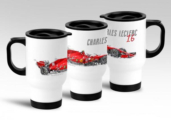 Thermobecher - Formel 1 - Charles Leclerc - Ferrari 2020