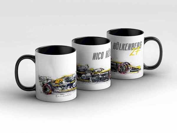 Tasse Motiv: Formel1 Nico Hülkenberg - Renault F1 Team - Silhouette Kaffeebecher
