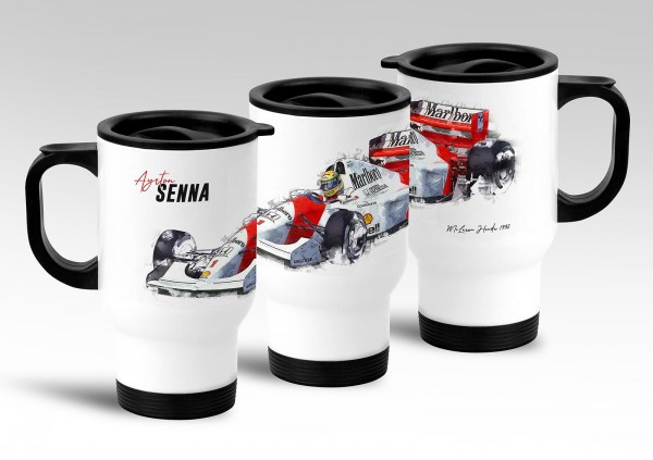 Thermobecher - Formel 1 - Ayrton Senna - McLaren Honda 1992