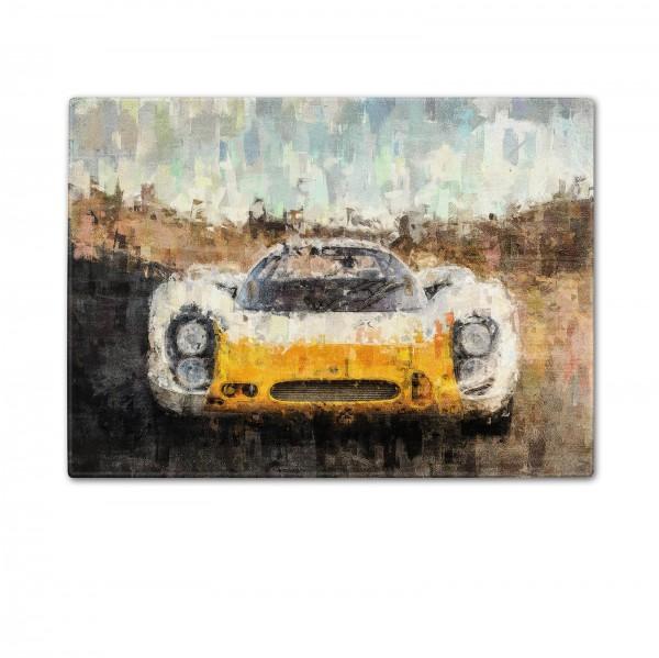 Schneidebrett Artwork Motiv: Porsche 908 Short-Tail Coupe 1968 - Front