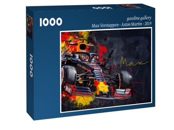 Puzzle Max Verstappen - Aston Martin - Red Bull - 2019 - Formel 1 - Deep Blue