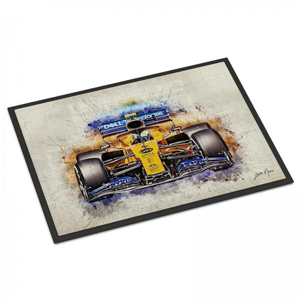 Formula 1 doormat - Artwork Lando Norris - Classic 2019