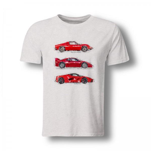 T-Shirt - Ferrari Dino - F40 - LaFerrari