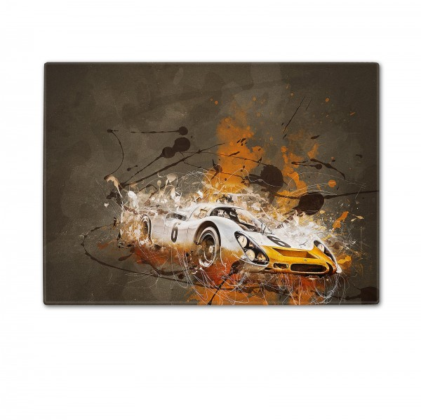 Schneidebrett Artwork Motiv: Porsche 908 Short-Tail Coupe 1968 - Silhouette