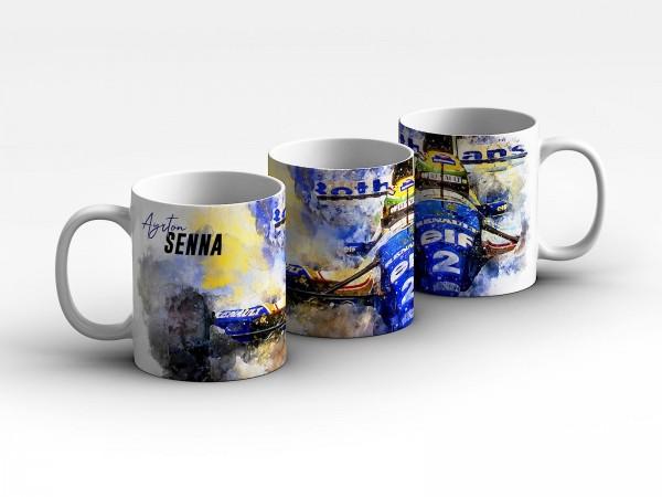 Tasse Motiv: Ayrton Senna - Artwork - Williams Renault 1994 - Kaffeebecher