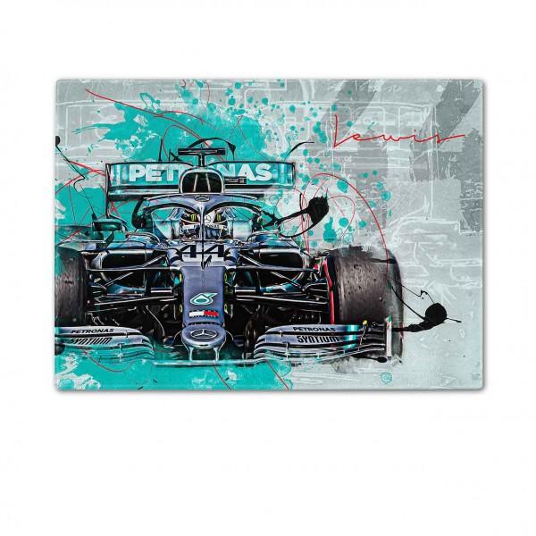 Schneidebrett Artwork Motiv: Formel1 Lewis Hamilton - Mercedes - 2019