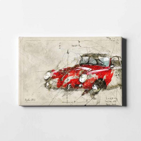 Artwork Leinwanddruck Motiv: Porsche 356