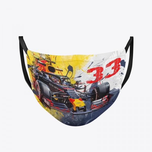Community Maske | Max Verstappen - Aston Martin - Red Bull - 2019 | washable | Temporary mask reusable | Formula 1