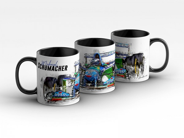Tasse Motiv: Formel1 Michael Schumacher - Benetton - 1994 Front Kaffeebecher
