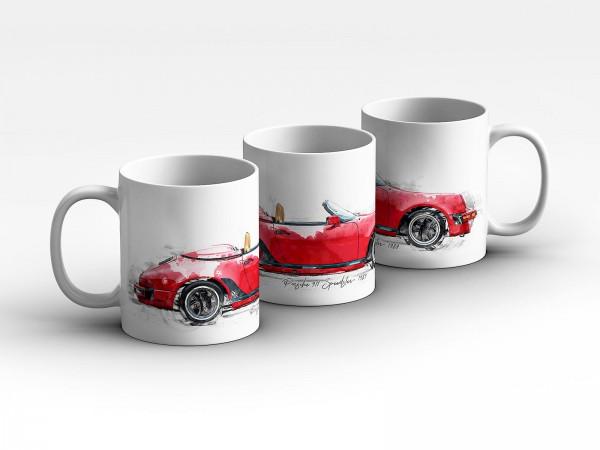 Tasse Motiv: Porsche 911 Speedster - Open 1989 Kaffeebecher