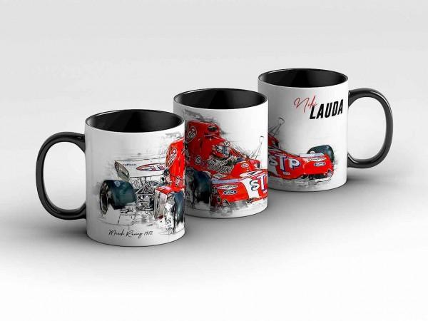 Tasse Motiv: Formel1 Niki Lauda - March Ford - 1972 - Front Kaffeebecher