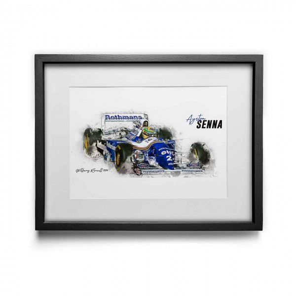 Artwork Print - framed - Ayrton Senna - Williams Renault - 1994